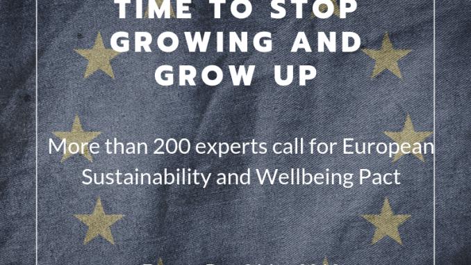 """(Italiano) Lettera aperta """"Ciò che serve all'Europa è un Patto per la Sostenibilità e il Benessere"""""""