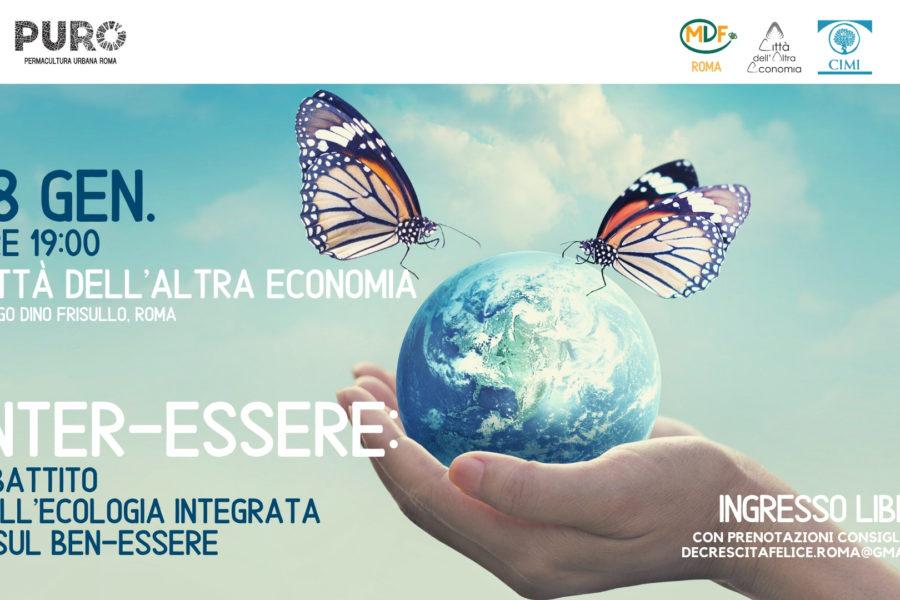 """(Italiano) """"Inter-essere"""" – dibattito sull'Ecologia Integrata e sul Ben-Essere"""