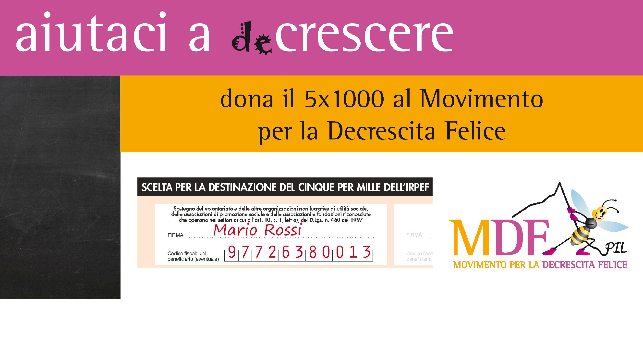 Campagna 5x1000 per sostenere MDF