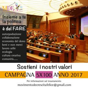MDF campagna 5x100 anno 2017