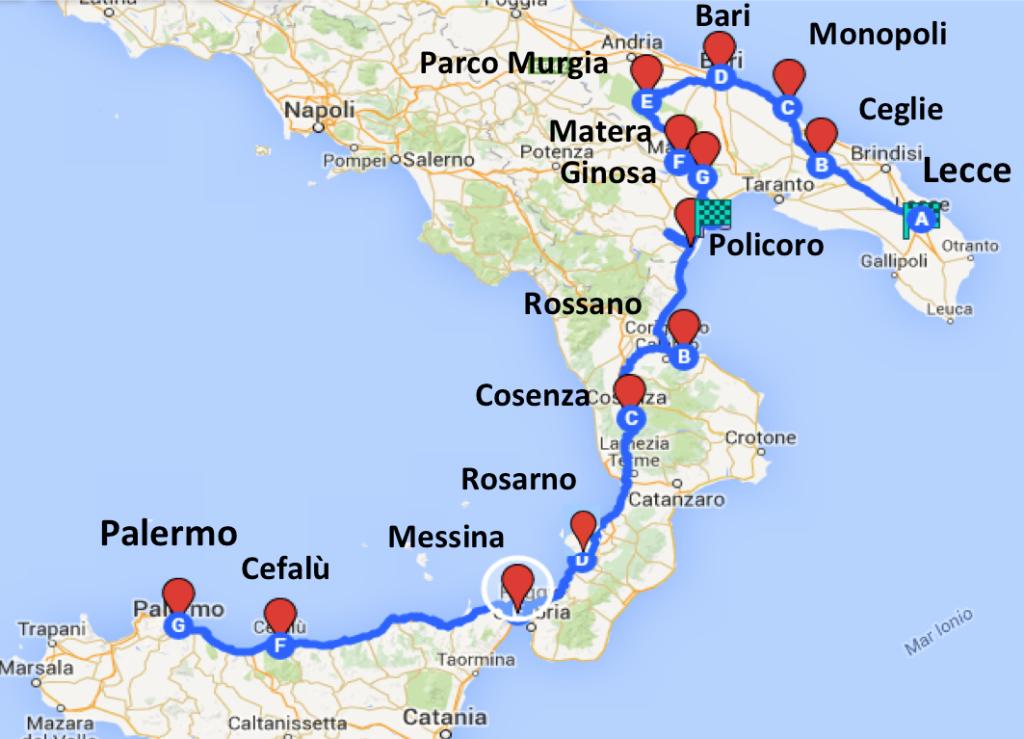 (Italiano) Bike Tour, la prima tappa: Lecce
