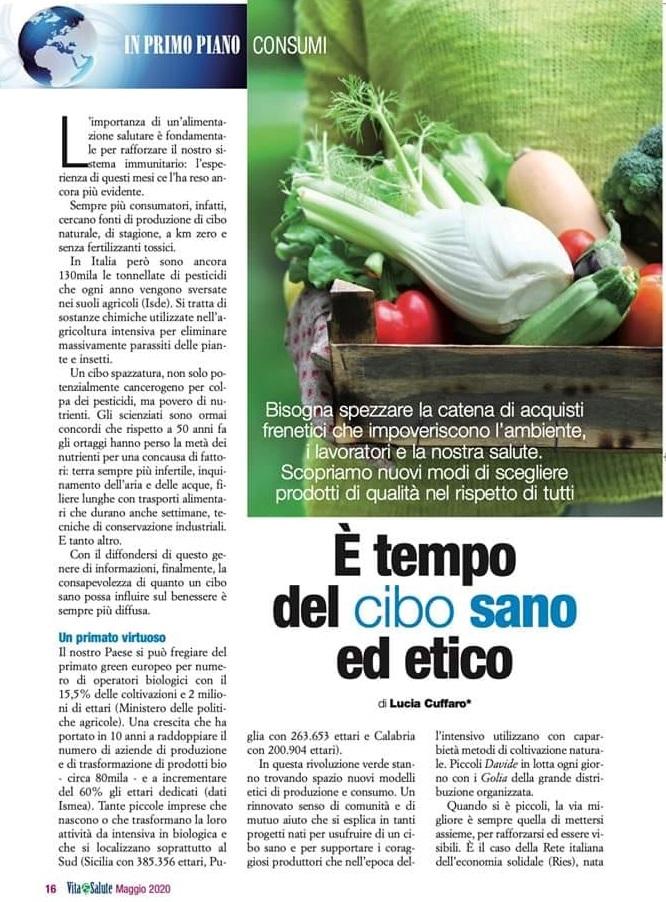 cibo sano ed etico