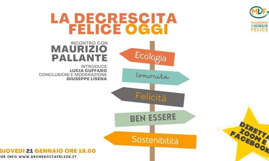 La decrescita felice oggi: incontro con Maurizio Pallante